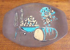 Retro Melmac Bessemer Large serving platter, Food pattern