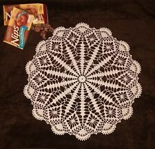 "20"" Hand Crocheted Cotton Thread Doily ""Take Time Out"""