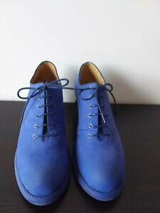 Worn Once Blue Waymouth Fluevog Leather Shoe sz10