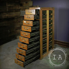 Vintage Industrial Globe Wernicke Card Catalog Library File Cabinet