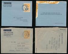 GOLD COAST KG6 + QE2 AEROGRAMMES STATIONERY to SURREY 1951 NORTHANTS 1956 KUMASI