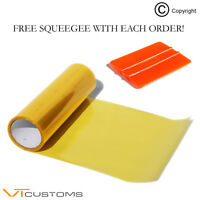 30 x 100cm Yellow Headlight Tinting Film Fog Vinyl Lights Tint + FREE SQUEEGEE