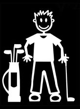 MY STICK FIGURE FAMILY Car Window Bumper Vinyl Decal StIckers M14 Male Golf