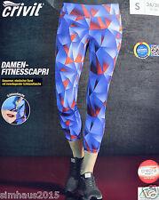femmes Pantalon capri de sport course fitnesscapri mauve rouge M 40/42 NOUVEAU