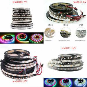WS2811 WS2812 WS2813 WS2815 LED Pixel Strip Light RGB 5050 30/60/144led/m 5V 12V