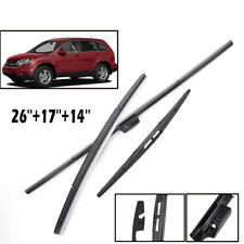 Front Rear Window Windshield Wiper Blades Set Fit For Honda CRV CR-V 2007-2011