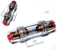 60A Fuse Holder Block For Car Subwoofer In Line Amplifier Power Gauge - UK selle