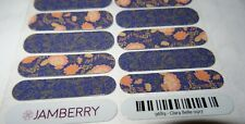 Jamberry Nail Wraps Clara Belle 0917 Full Sheet Blue Pink Floral #9689 Jb