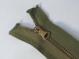 "Vintage Original 1940's WWII Conmar Bell-Shape Pull Separating Jacket Zipper 16"""