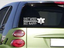 "Don't worry bee happy 8"" sticker *E880* beekeeper hive honey pollen super comb"