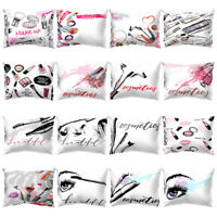HB- ALS_ Cosmetic Printed Rectangle Throw Pillow Case Cushion Cover Bed Home Dec