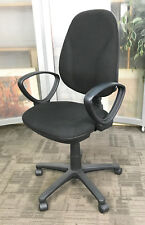 Comfort Ergo Operator Chair | Cheap Adjustable Office Chairs with Arms in Black