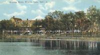 CE-339 IN, Winona Lake, Winona Hotel White Border Era Postcard Indiana