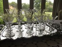 18 Mixed  Water/ Wine/ Champagne-Goblets / Glasses-Crystal  Swirl - Beautiful