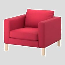 "IKEA Karlstad Sivik""Pink-RED""Armchair Cover Chair Slipcover NEW Watermelon NIP"