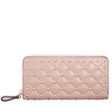 Valentino Rockstud Spike Leather Wallet - Powder Pink
