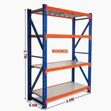 2M Long x 2.7M High Heavy Duty Warehouse Garage Metal Storage Shelving Rack