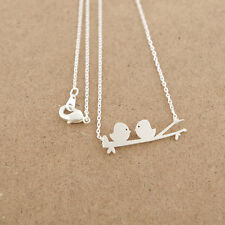 304 Stainless steel Gold or Silver Plated 2 Birds Design Valentine Necklace USA