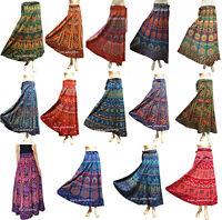 Indian Wrap Around Skirt Women Ethnic Floral Rapron Long Printed Cotton