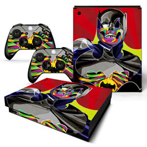 Batman Vinyl Skin Decal Sticker Cover for Xbox One X Console & 2 Controllers