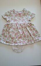 Vestido De Verano BNWT Bebé Niñas Fresa Rosa o Blanco Recién Nacido 0-3 3-6 meses