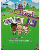 LUVS DIAPERS 2008 magazine ad clipping advert print VW bus cartoon hippie style