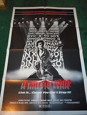 URGH! A MUSIC WAR - ORIGINAL FOLDED POSTER - 1983 RE-RELEASE