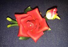 Nib Roman Inc. Porcelain Red Rose Flower Figurine #41276