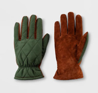 Men's Quilted Fleece  Lined Leather Gloves - winter WOW  WARM !!!