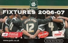 Fixture List - Plymouth Argyle 2006/7