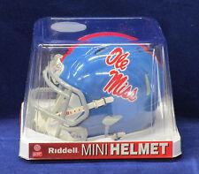 MISSISSIPPI OLE MISS POWDER BLUE Mini Helmet - Officially Licensed 2015 NEW