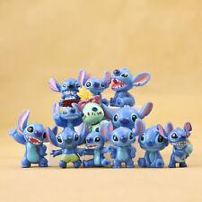 12pcs/Set Disney Lilo & Stitch PVC dolls Anime action figure Gifts toys Cake top