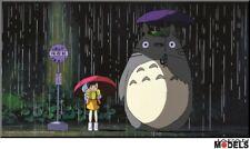 TOTORO BUS STOP Wood panel - Quadro Studio Ghibli - 37,5 x 20,5 Miyazaki Limited