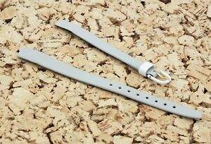 Vintage HIRSCH Calf Leather open ended Watch strap 10mm Grey & White / UK