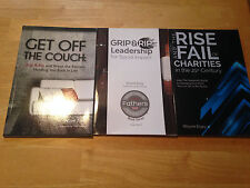 Grip & Rip ,Get Off the Couch & Rise & Fall Charities Wayne Elsey 3 books