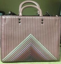 NWT Coach 25035 Rogue Dusty Rose With Colorblock Quilting and Rivets $995