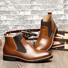 Best Sellers Outdoor Men's  hight top Casual patent Leather Chelsea ankle Boots