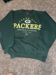 vintage green bag packers crew neck