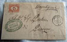 FRANCOBOLLI 1870 REGNO SEGNATASSE C 5 usato come francobollo DA ARTOGNE PISOGNE