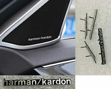 Harman Kardon a clipser 4 logos Stickers Aluminium Haut Parleur BMW Audi Mini
