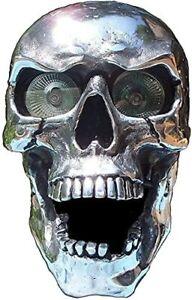 Halloween Decorate Skull Headlight Universal Handmade LED Motorcycle Skull Lamp