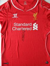 STEVEN GERRARD Signed Shirt LIVERPOOL & ENGLAND Legend COA
