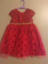 Blueberi Boulevard Toddler Girls Red Sequins Tulle Dressy Dress Size 4