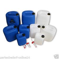 5 - 25 L Wasserkanister Getränkekanister Kunststoffkanister + Hahn Ausgießer NEU