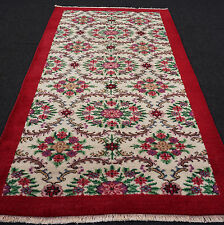 Türkischer Orient Teppich 210 x 123 cm Isparta Beige Rot Floral Turkish Carpet