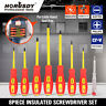 8pc Electrician's Insulated Magnetic Electrical Hand Screwdriver Tool Set New