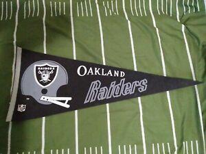Vintage Felt Pennant 1970's Oakland Raiders Football NFL