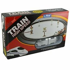 High-Speed Metro Train with Track and Signal Accessories - Battery Operated