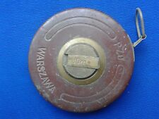 Poland Historic tape measure - PZO Warsaw - brass - leather