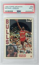 1992 92 Topps Archives Michael Jordan #52, 1984 SP Rookie Card RC, Graded PSA 9